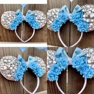 Cinderella Roses and Crystals Minnie Ears
